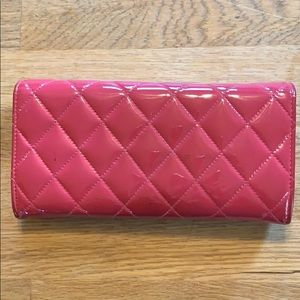 CHANEL Bags - Chanel classic quilted patent flap wallet clutch